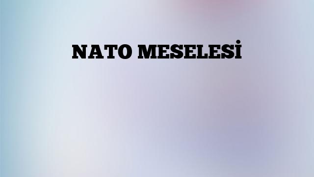 NATO MESELESİ