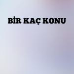 BİR KAÇ KONU